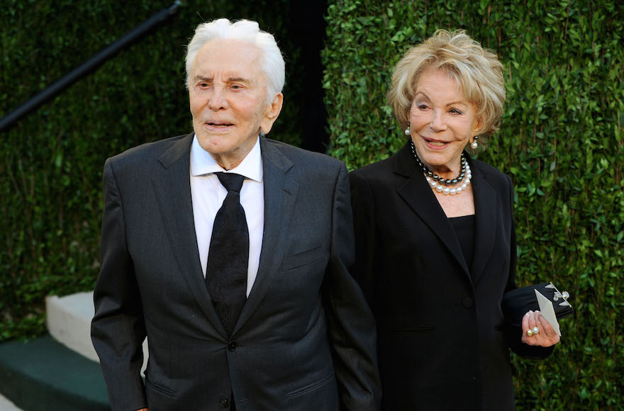 Kirk Douglas with his wife Anne at Sunset Tower in West Hollywood, Feb. 24, 2013. (Mark Sullivan/WireImage)