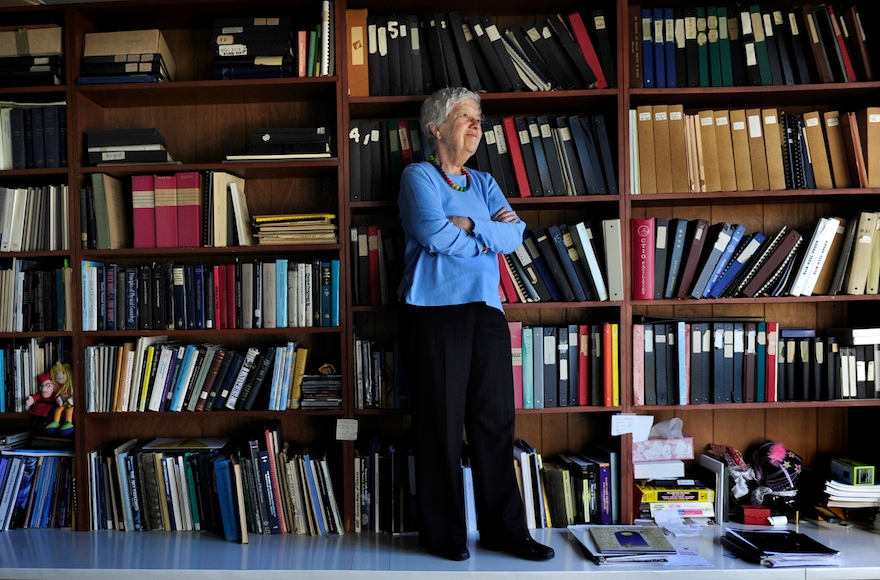Vera Rubin in her office at  the Carnegie Institution of Washington in Washington, D.C., Jan. 14, 2010. (Linda Davidson/The Washington Post via Getty Images).