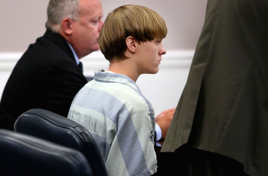 Dylann Roof appearing in court in Charleston, South Carolina, July 18, 2015. (Grace Beahm-Pool/Getty Images)