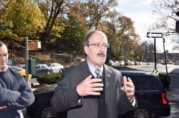 Rep. Eliot Engel, D-NY, attending a memorial vigil for victims of the Paris terror attack at the Riverdale Monument in the Bronx neighborhood in New York City, Nov. 15, 2015. (Eugene Gologursky/Getty Images)