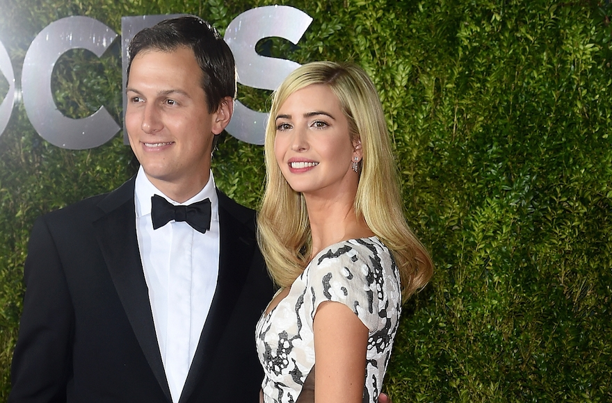Ivanka Trump, right, and Jared Kushner attending the 2015 Tony Awards at Radio City Music Hall in New York City, June 7, 2015. (Dimitrios Kambouris/Getty Images for Tony Awards Productions)