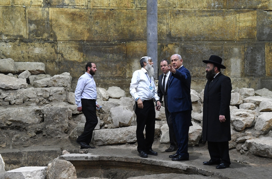 Israeli Cabinet meets in Western Wall tunnels, approves Old