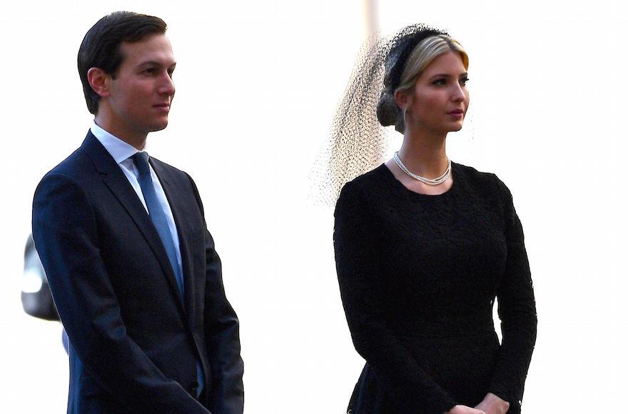 Jared Kushner and Ivanka Trump arriving at the Vatican, May 24, 2017 ...