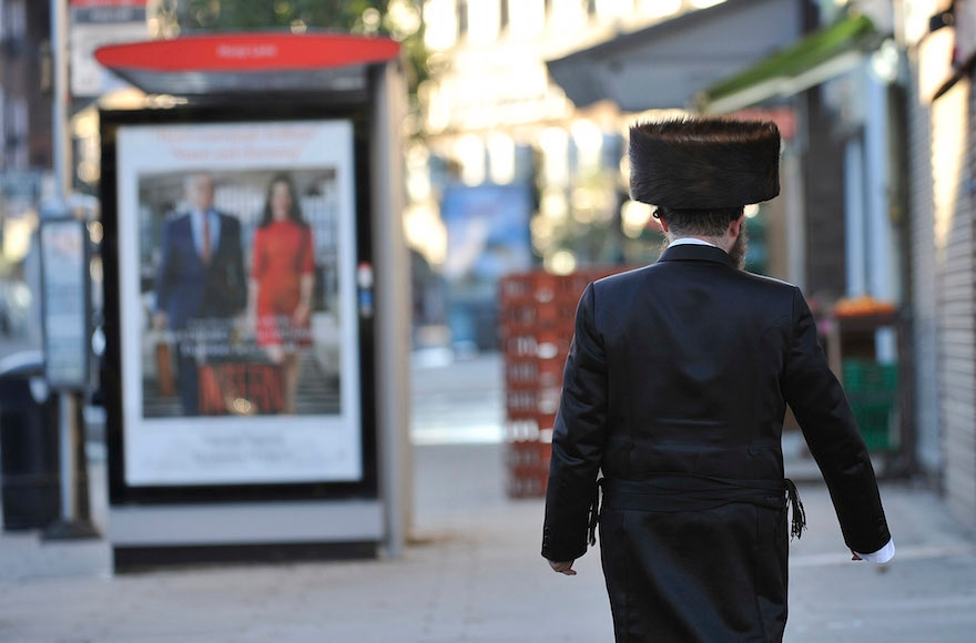 A Jewish man walking in northern London, the United Kingdom on Sept. 23, 2015. (Tony Margiocchi/Barcroft Media via Getty Images)