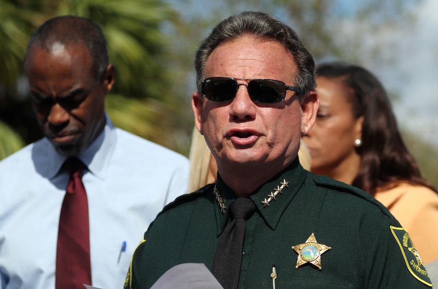 The Jewish sheriff leading the response to the Florida school shooting quotes the Talmud - Jewish Telegraphic Agency