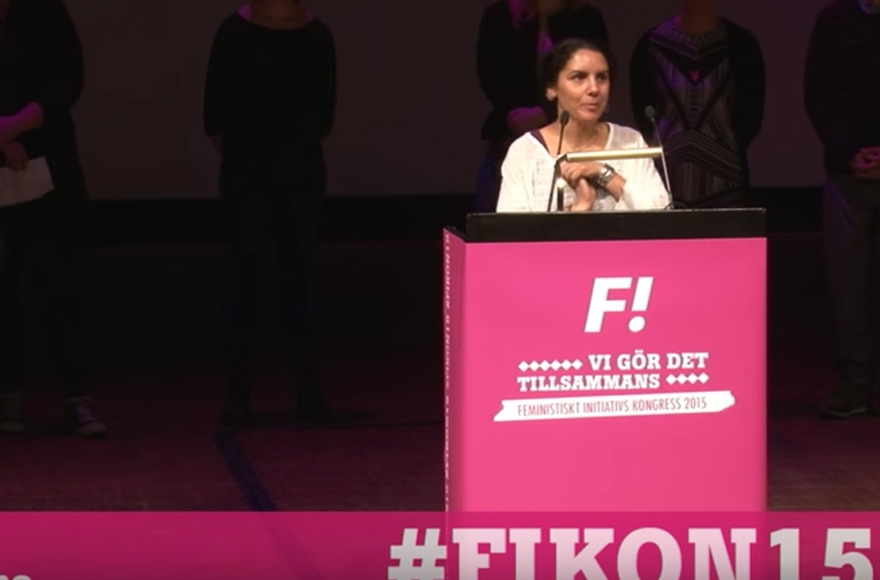 Oldoz Javidi Is A Candidate For Swedens Feminist Initiative Party Screenshot From Youtube