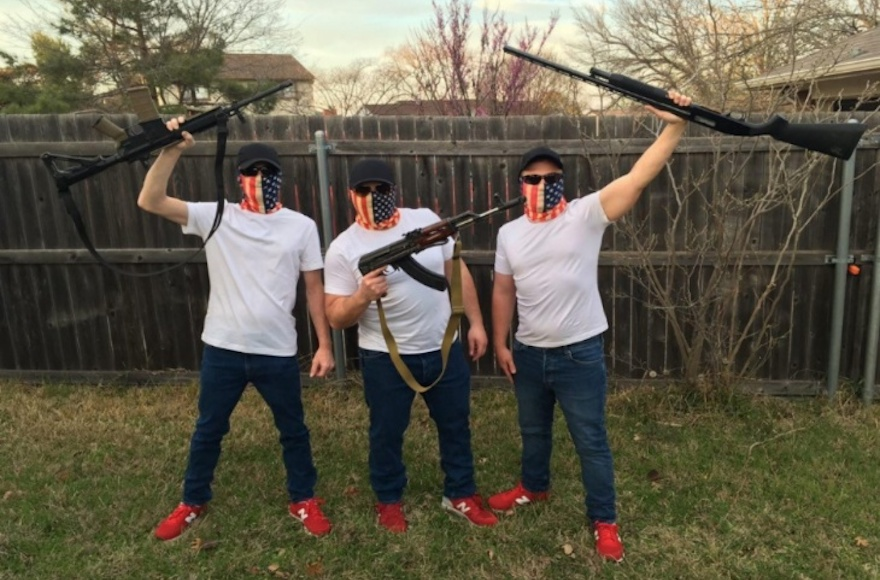 Daily Stormer Book Club members wearing their uniforms. (Anti-Defamation League)