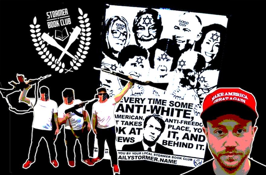 Эта неонацистская группа стоит за листовками, обвиняющими евреев в кампании против Кавано