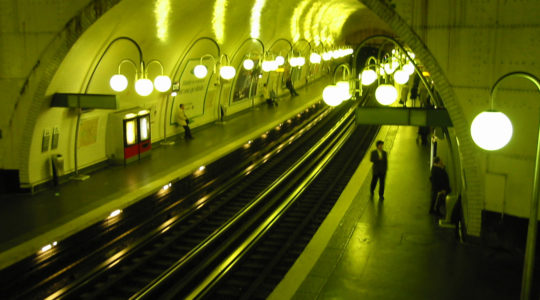 A Paris underground train station