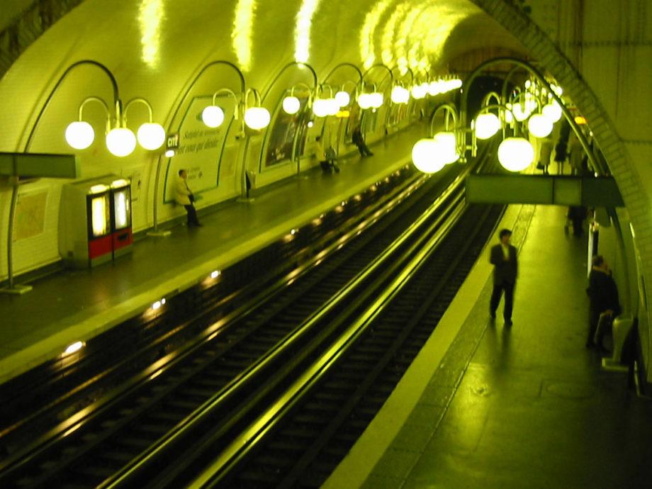 A Paris underground train station