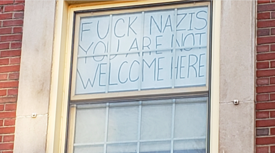 University of Massachusetts, nazi sign
