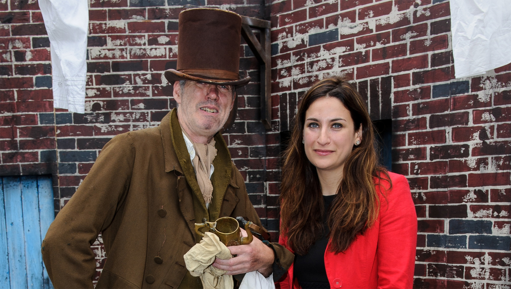 Gabe Friedman Just now Luciana Berger meeting an actor at an event raisibng awarness to access to clean water in London on July 21, 2015. Courtesy of Luciana Berger