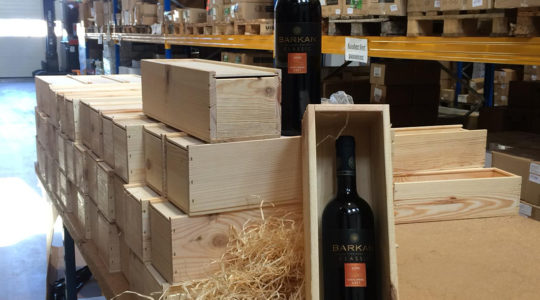 Israeli wine bought by the Dutch SGP party awaiting delivery to its rivals in the regional elections on March 27, 2019. )Courtesy of SGP)