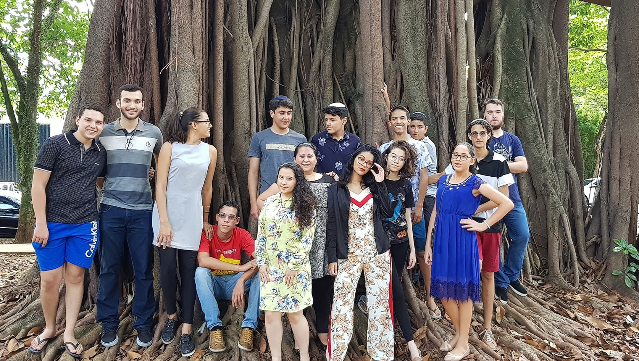 Participants of Brazil's Yeshiva Camp in Sao Paulo in 2018. (Courtesy of Yeshiva Camp)