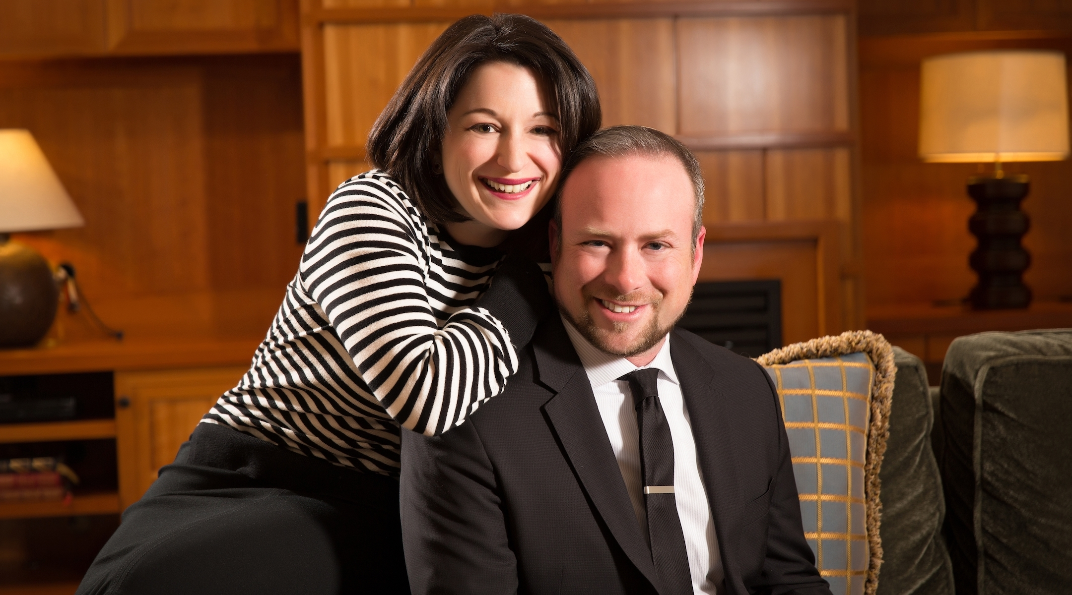 Ari Hoffman, pictured with his wife, Jessica Russak-Hoffman, was inspired to run for Seattle City Council after protesting vandalism and drug use in his synagogue's cemetery. (Courtesy of Hoffman)
