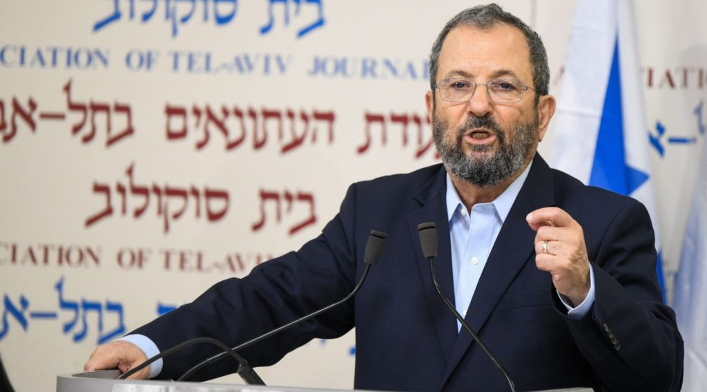 Ehud Barak forms a new political party saying 'Netanyahu regime must be felled'