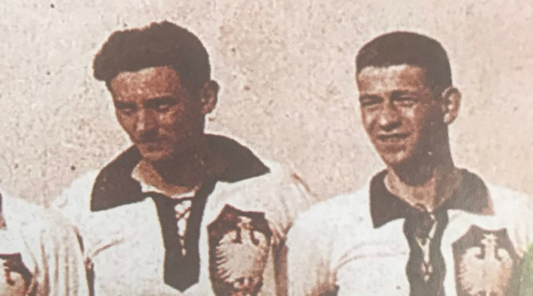Jozef Klotz, left, with a team mate in Krakow int he 1920s. (Courtesy of From the Depths)