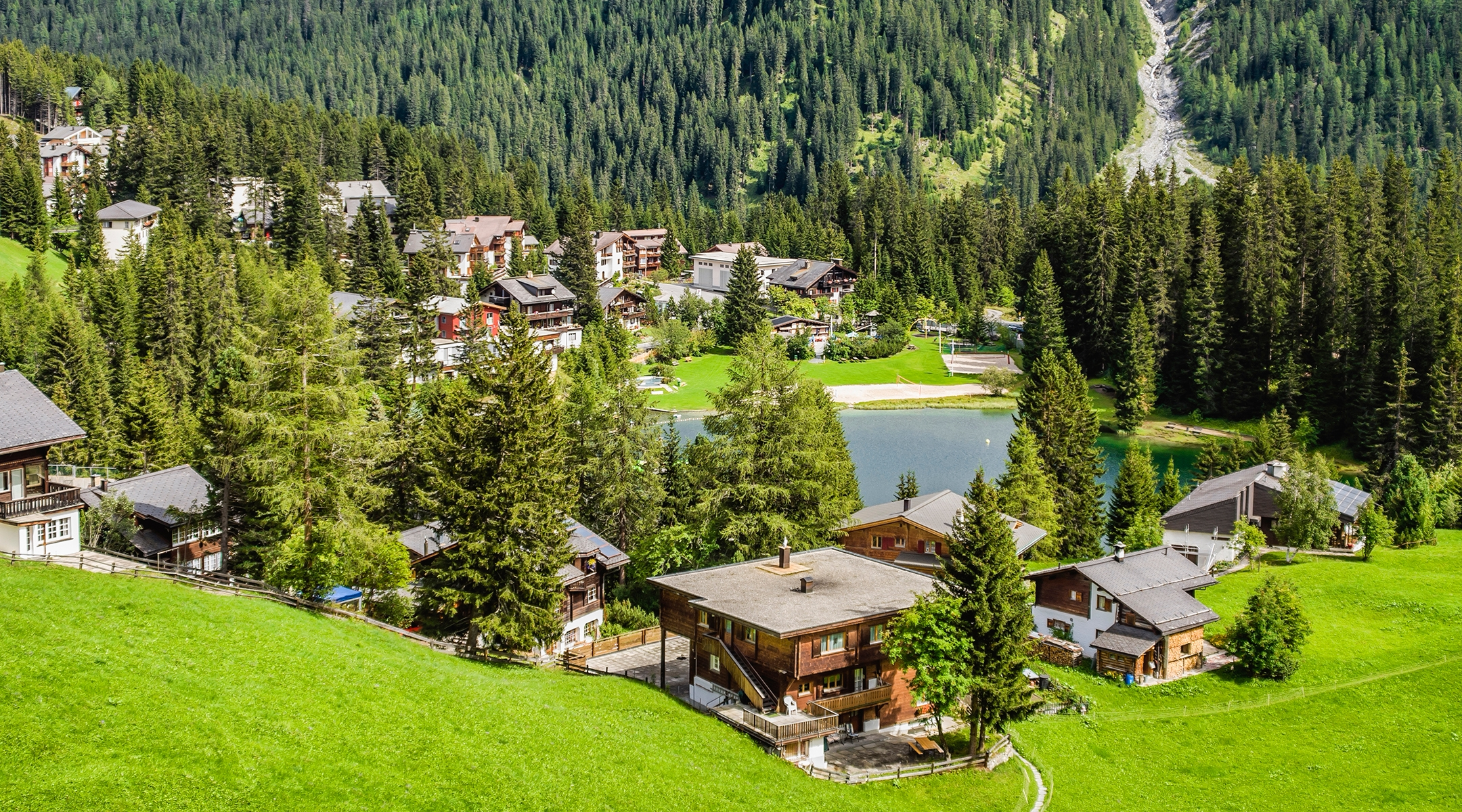 A view of Arosa, Switzerland in summer. (Olaf Protze/LightRocket via Getty Images)