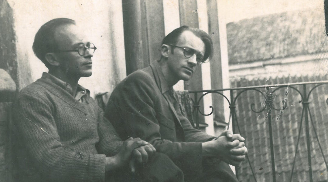 Abraham Sutzkever, right, before World War II in Vilnius, Lithuania. (Courtesy photo)