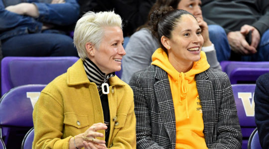Megan Rapinoe, left, and Sue Bird have been dating since 2016. (Alika Jenner/Getty Images)