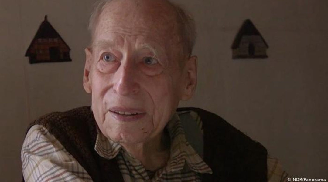 Karl Munter during a secretly-filmed interview in which he denied the Holocaust in 2018. (NRD/Panorama)