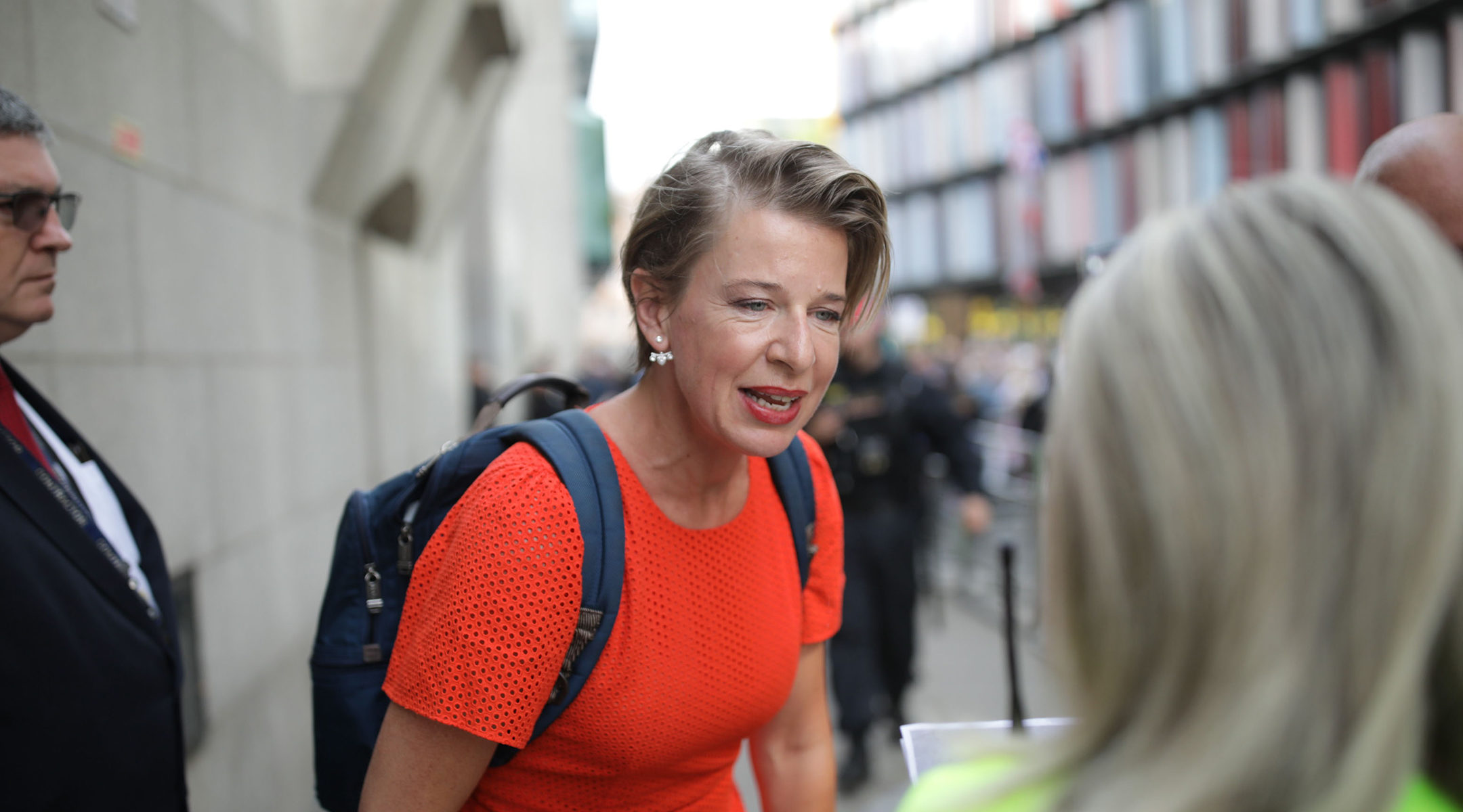 Katie Hopkins attending a protest over the jailing of the far-right activist known as Tommy Robinson in London, England on on July 11, 2019. (Luke Dray/Getty Images)