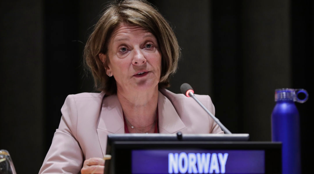 Mona Juul, president of the UN Economic and Social Council at the UN Headquarters in New York, on May 30, 2019 (Luiz Rampelotto/NurPhoto via Getty Images)