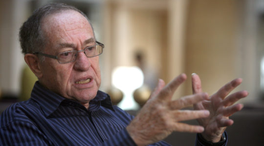 Alan Dershowitz speaks during an interview on May 18, 2010 in Jerusalem, Israel. (Lior Mizrahi/Getty Images)