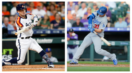 Alex Bregman, left, and Joc Pederson will compete against each other in the derby's first round. (Getty Images)