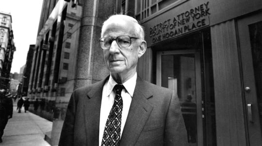 Robert M. Morgenthau, District Attorney of Manhattan, poses outside his office in New York City on March 9, 1993. (Helayne Seidman /Getty Images)
