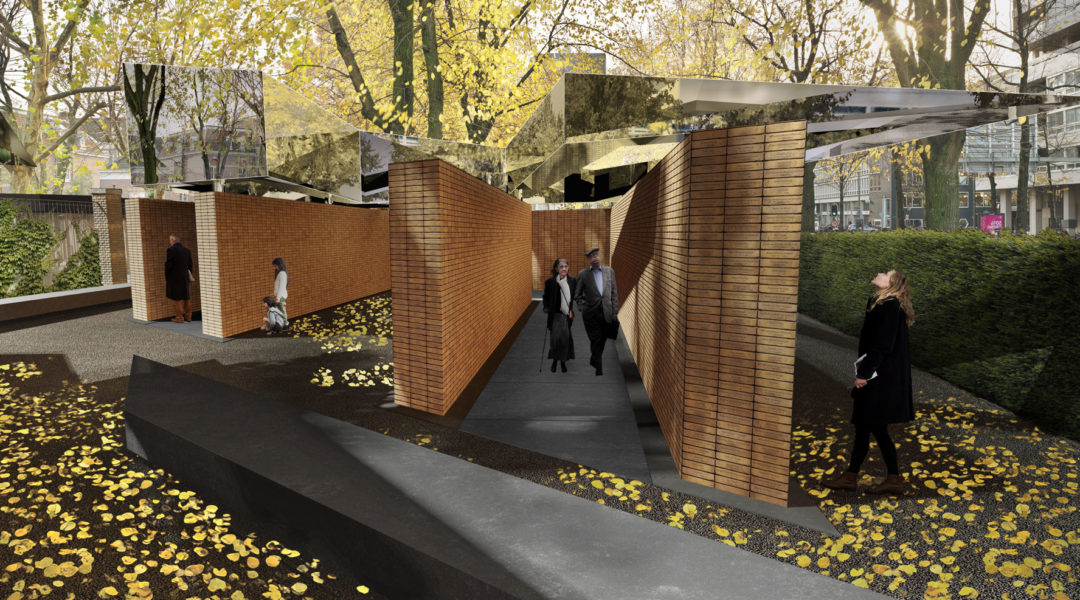 An artist's impression of the plans for a new Holocaust monument in Amsterdam. (Holocaust namenmonument)