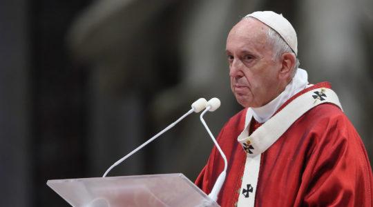 Pope Francis, seen at a Holy Mass in Vatican City in June 2019. (Grzegorz Galazka/Archivio Grzegorz Galazka/Mondadori Portfolio via Getty Images)