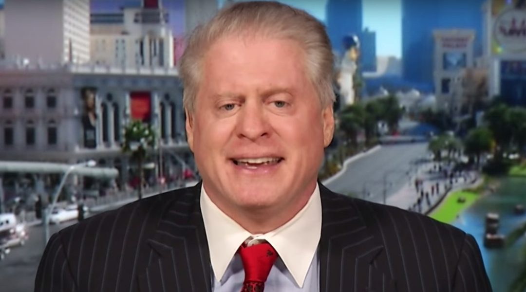 """Wayne Allyn Root on Larry King's """"PolitiKING"""" show in 2015. (Screenshot from YouTube)"""