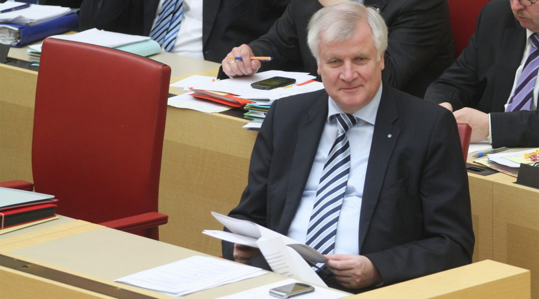 German Interior Minister Horst Seehofer attending a cabinet meeting in Munich, Germany on April 11, 2013. (Wikimedia Commons/Michael Lucan)