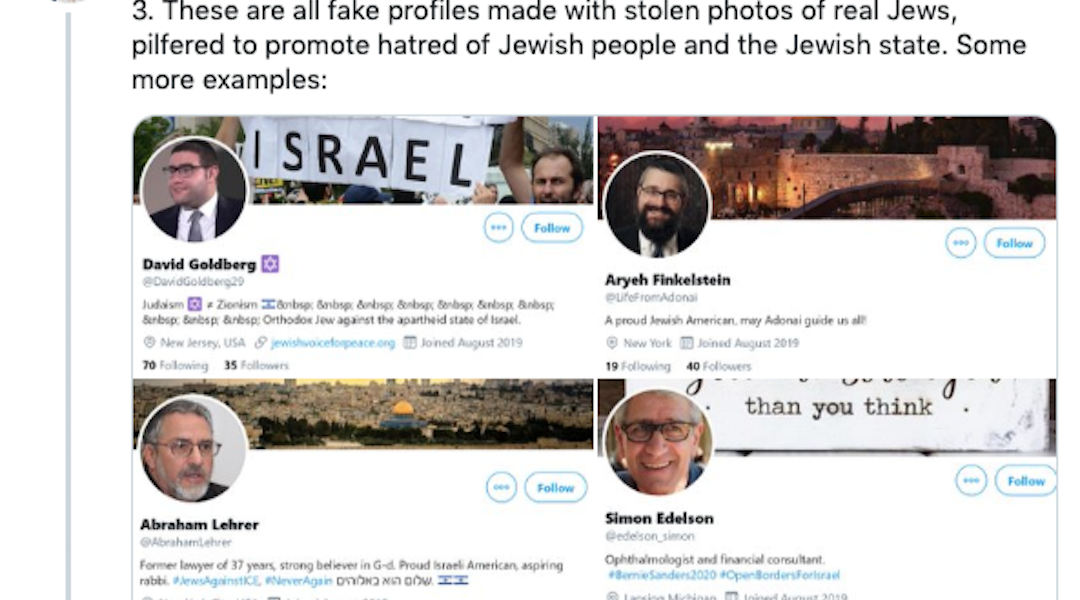 Fake Twitter accounts are impersonating Jews and promoting anti-Semitism