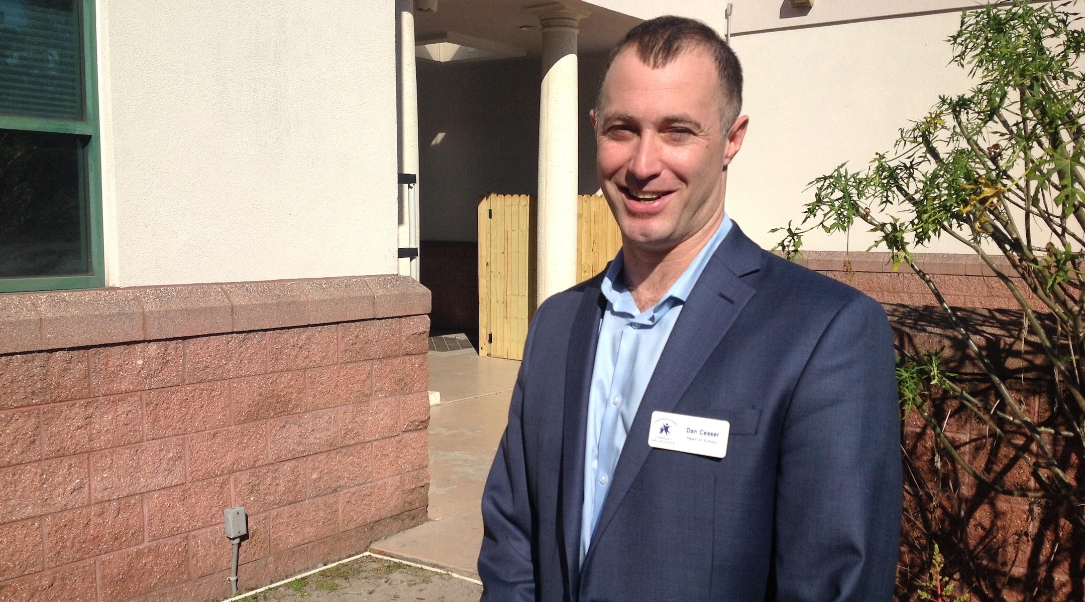Dan Ceaser, the head of school of Hershorin Schiff Community Day School, has made the school's diversity a centerpiece of its message. (Ben Sales)