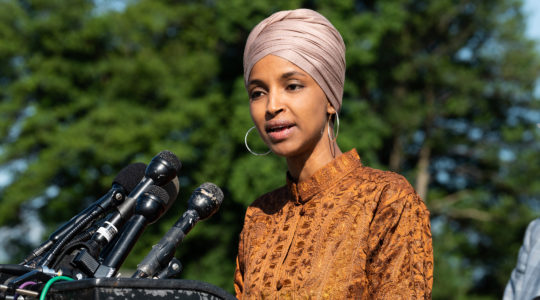 Rep. Ilhan Omar speaks at a press conference at the Capitol in Washington, D.C., July 25, 2019. (Michael Brochstein/SOPA Images/LightRocket via Getty Images)