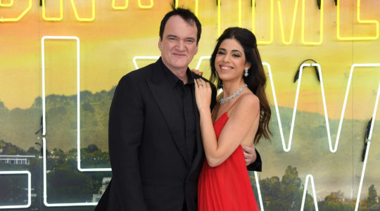 """Quentin Tarantino and Daniella Pick attend the """"Once Upon a Time In Hollywood"""" U.K. Premiere at the Odeon Luxe Leicester Square in London, July 30, 2019. (Karwai Tang/WireImage/Getty Images)"""