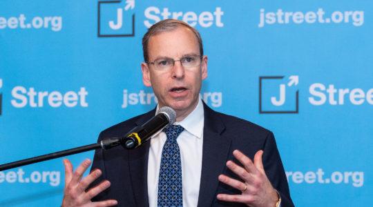 Jeremy Ben-Ami, president of J Street, speaking at the J Street National Conference in 2018. (Michael Brochstein/SOPA Images/LightRocket via Getty Images)