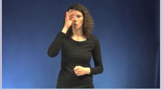A model gesturing a hooked nose on the website if the University of Ghent, Belgium. (University of Ghent)