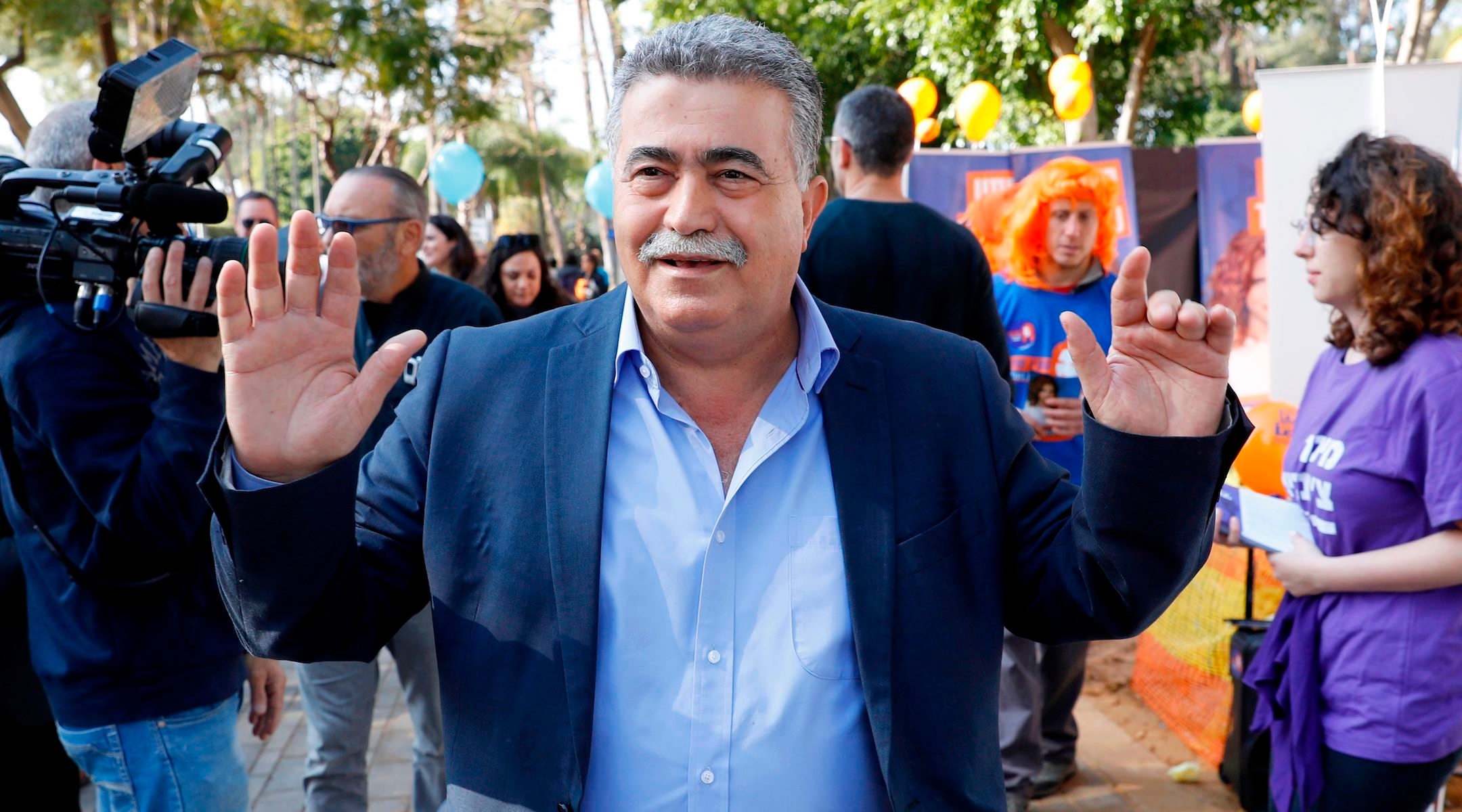 Former Israeli defense minister Amir Peretz poses during the Labor party primaries in Tel Aviv on February 11, 2019. (Jack Guez/Getty Images)