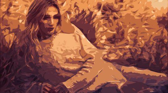 blonde woman illustration