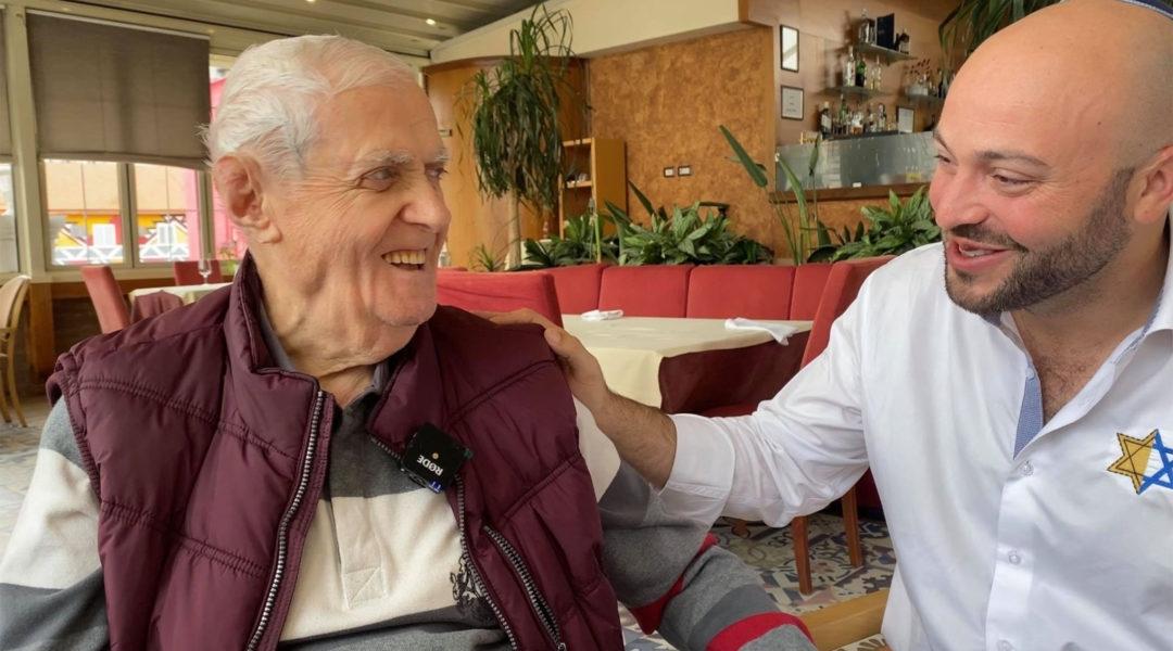 Xhemal Veseli, left, with Jonny Daniels in Tirana, Albania in October 2019. (Courtesy of From the Depths)