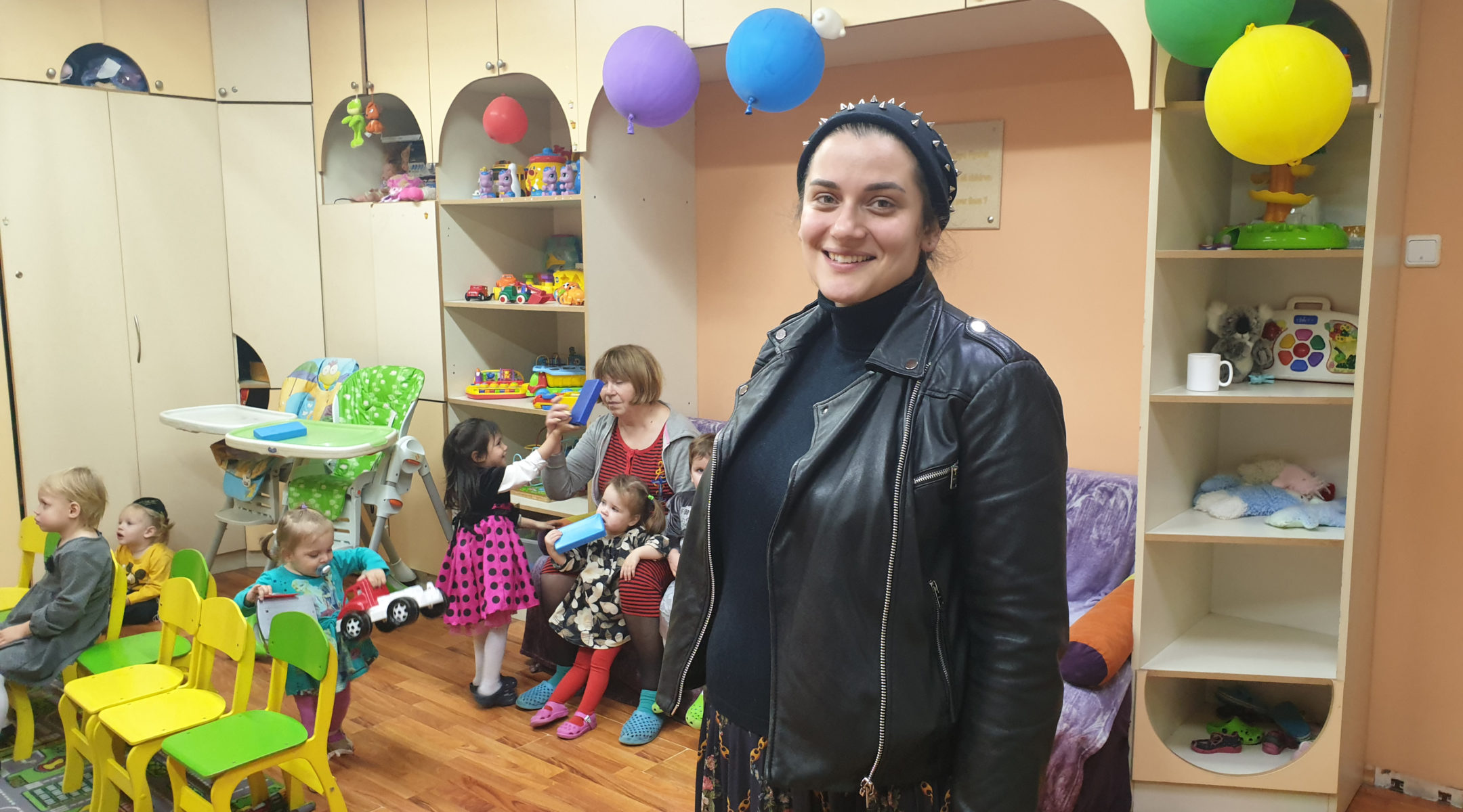 Alina Feoktistova at the Tikva Jewish education complex in Odessa, Ukraine on Nov. 2, 2019. (Cnaan Liphshiz)