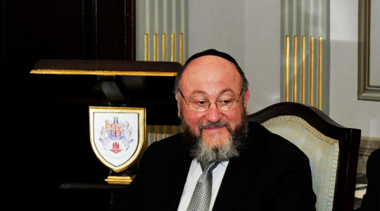 British Chief Rabbi Ephraim Mirvis attending a ceremony in Gibraltar on June 18, 2013. (Courtesy of Mirvis)