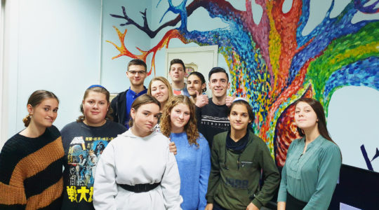 Ukrainian Jews at the Beit Grand Jewish Community Center in Odessa on Nov. 1, 2019. (Cnaan Liphshiz)