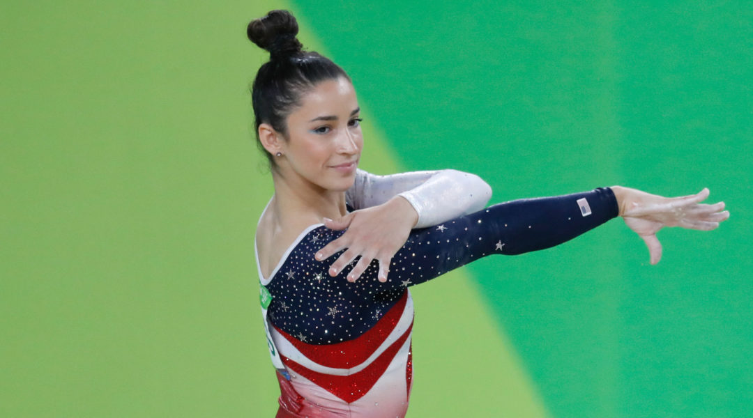 Aly Raisman competing in the Olympic Games in Rio de Janeiro, Brazil in 2019. (Fernando Frazão/Agência Brasil/Wikimedia Commons)
