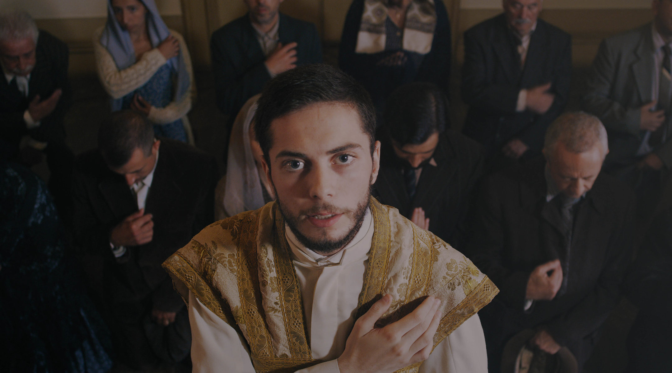 "Actors portraying Portugese Jews in the film ""Sefarad"" that was shot in 2018 in Porto, Portugal. (Courtesy of the Jewish Community of Portugal)"
