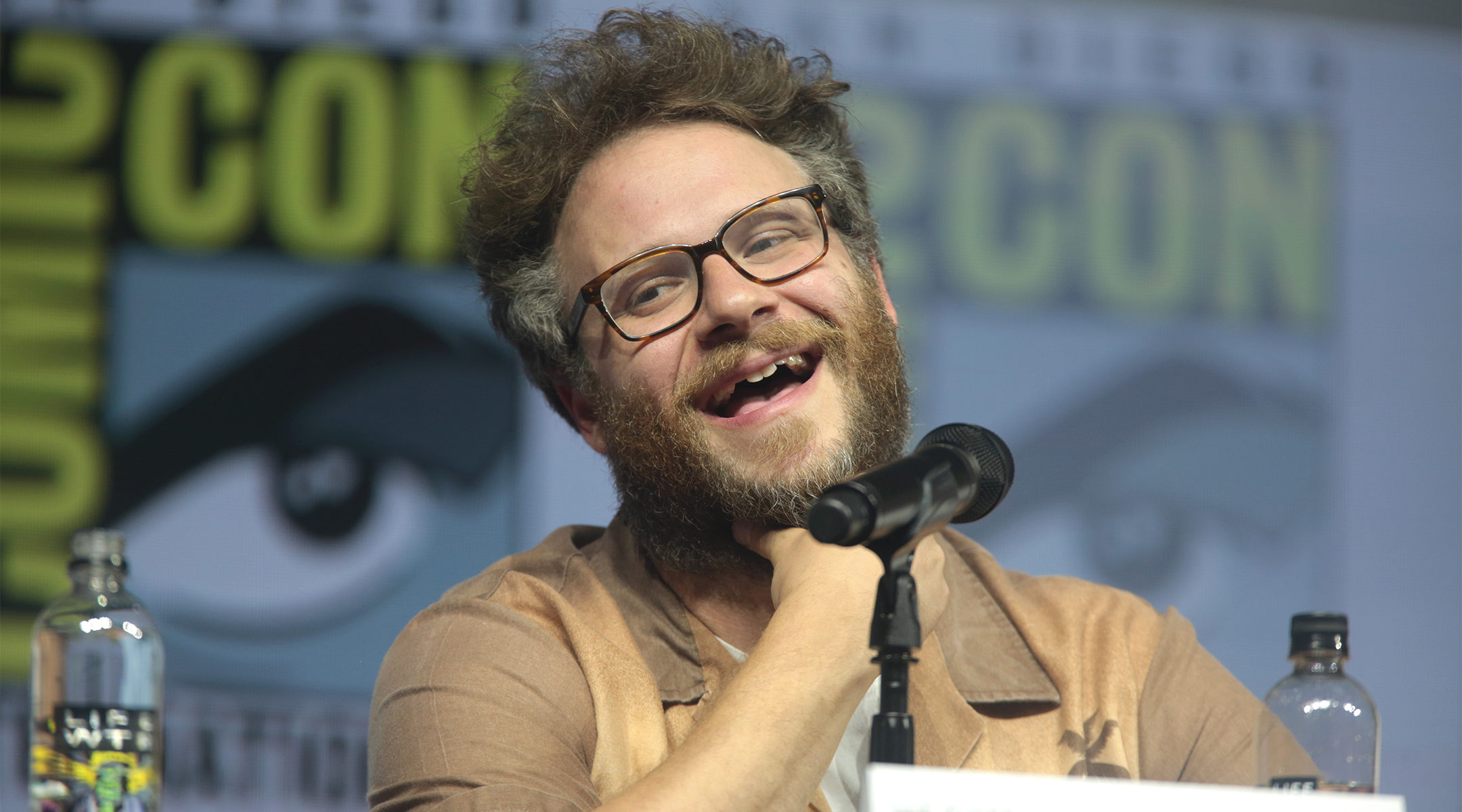 Seth Rogen speaking at the San Diego Comic Con International in San Diego, Californio on July 20, 2018. (Wikimedia Commons/Gage Skidmore)