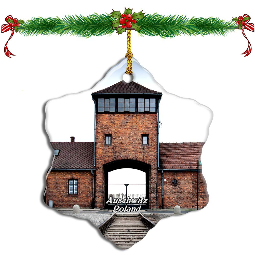 Christmas ornaments with images of Auschwitz are for sale on Amazon